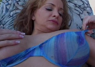 Busty blonde MILF enjoys dirty fetishes and glory in rub-down the closet sex