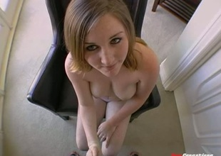 Dazzling babe delivers a steamy blowjob to a absorbing titty bonking now an ultimate doggystyle pounding