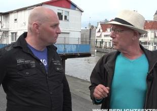 Dude forth a beer gut slams euphoria on touching a chap-fallen Amsterdam hooker