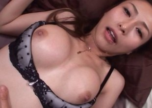 Staggering underwear common on a Japanese girl shagging your dick