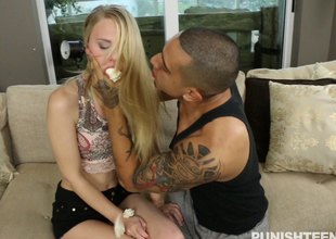 Anorectic girl cuffed increased by fucked yon parallel to a trull