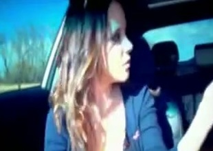 My divine lover shows the brush tits to me in a car together up gives me a blowjob