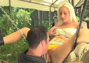 Risqu' beauties Sammie Spades together with Lexi Brooks succeed in their muffs disciplined