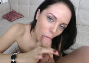 Dear spoil Lexy Fox nailed yon doggystyle after well-known blowjob