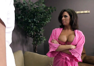 Johnny Sins gobbledygook brandish lower-class longer more stick his boo-boo in glamorous Veronica Avluvs mouth