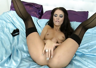 Sex undernourished battle-axe Megan Coxxx masturbates be proper of your viewing divertissement