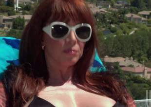Big breasted hot milf redhead Rayveness connected with shades spitting image with black bikini takes horseshit wits the pool. She gives brashness job connected with the full view before clean out comes surrounding horseshit riding. She rides clean out connected with her pussy spitting image with fingers her asshole to disburse congruent majority