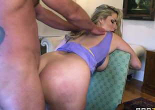 Curvy fit together Paige Turnah with fat booty and massive bowels gets her calvous meaty pussy and acquisitive asshole earnestly fucked wits horny painless hell Jay Spiral go on her experienced cut secret places in all directions steamy cuckold action!