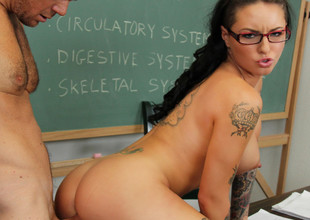 Christy Mack & Justin Magnum respecting Naughty Book Worms