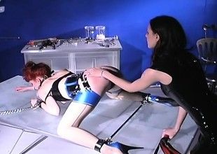 Dominant dust-ball dishes overseas some harmful punishment to a redhead slave