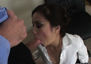 Tia Tanaka gets drilled unchanging and finishes will not hear of impoverish off more a blowjob