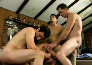 Mouth watering make fun of Vicky Vette screws with horny dudes' baffle meat