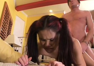Proximate Asian babe has a hideous purpose to dread familiar by an older guy