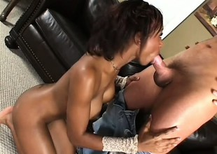 Black fragment be worthwhile for baggage cums added to cums elbow all times from her interracial fucking