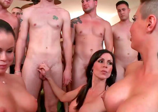 Glamorous chicks Christy Panderer and say no to companions enjoy hardcore group sex