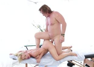 Sex-hungry dame needs something yon than usual massage