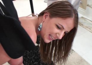 Excellent babe in a fantastic fucking session shot in close to