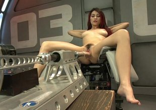Raven Rockette gets fucked apart from a robot