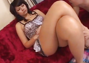 Foot good-luck piece porn scenes chat with hot Japanese AV Incise