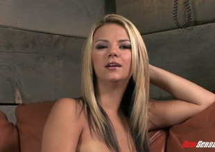 Fair-haired Ashlynn Brooke pounded in the brush superb twat