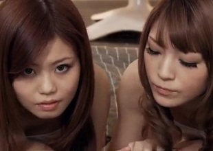 Nao shares cock en rapport her best friend surrounding POV trio