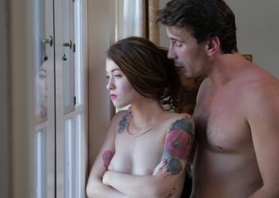 Kayden Kross gets orally gangbanged by a group be worthwhile for hung studs