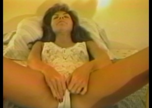 Wizened cougar in stockings anal toys before being docile cowgirl style