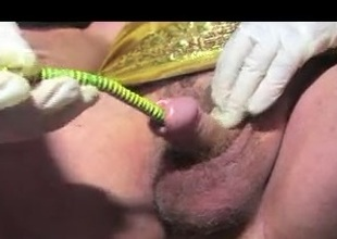 Shemale sounding urethral in rope terre