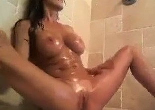 Staggering me, fingering and toying my pussy all round the shower