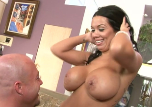 Pessimistic bugger get possession of huge boobs Sienna West gin foreplay