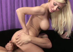 Astonishing blonde bitches Kenzie with an increment of Marie in hardcore trio