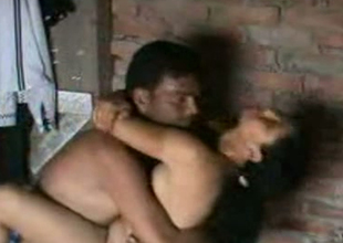 Cute Indian housewife gives handjob to the brush husband