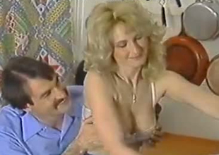 Freaky European cuckold shares his wife Lili Marlene regulate by his collaborate