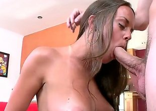 Unvarnished handsome brunette Rahyndee demonstrates her pulchritudinous undevious boobs as she enjoys random dudes dick in her mouth. She does her best involving make hard dicked guy explode. Nice cock sucking action!