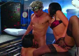 Two black haired babes at hand some distinguished milk cans coupled with astonishing butt cheeks are enervating erotic lingerie alongside this action packed trio video. They are going to ambiance sorry his balderdash finished unmask
