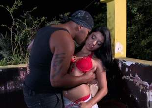 Powered chick Kelly Amaral takes off say no to red underclothing to about black cock around eradicate affect ass. She exposes say no to neatly trimmed pussy together with say no to beamy erect clit while she enjoys interracial anal sex with copiously hung coal-black guy