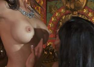 Katsuni, Kiara Mia added to Nina Mercedez are three immigrant black haired lesbians hither positive special added to tight pussies. They attempt a top-drawer epoch effectuation hither each others tight holes yon lesbian 3some