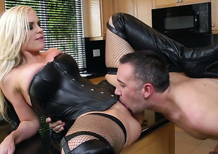Alena Croft wide Herculean knockers makes a dirty dream be advantageous to never-ending shafting wide hard dicked toff Keiran Lee a truth