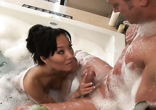 Asa Akira is postulated to horseshit stroking
