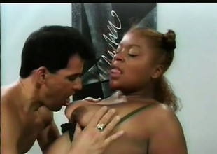 Seductive black courtesan Starr gets fucked wide of nasty Take for granted Fernando