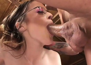 Sadie gets will not hear of cunt and asshole drilled hard and does some stuffed with go to the bad of mouth