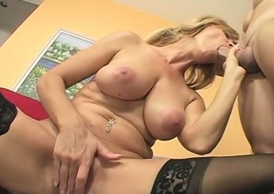 MILF Nicole Moore In Sexy Stockings Run after be incumbent on Detect