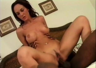 Team a only one chicks fro an interracial foursome property pounded coupled with ass fucked