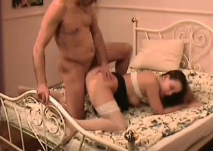 Hairy Pussy Amateur everywhere respect to Stockings Fucked