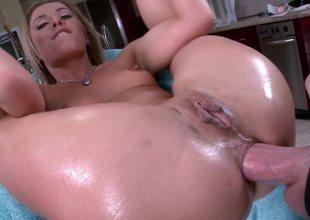 Blonde is having a cock placed inner say no to ass and it goes in deep