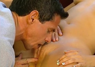 Peter North screwing hard first of all outr' Brunette.  Good eye contact, multiform positions and great cumshot.