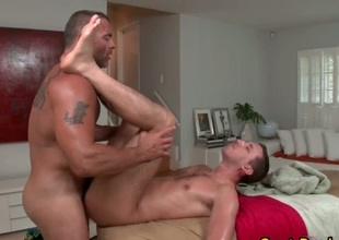 Massage zigzags procure gay having it away