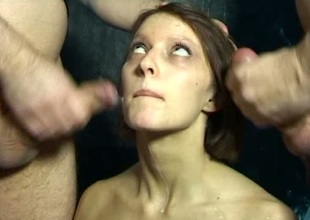 Amateur stripling is tied perfectly directions get under one's sybian added to gangbanged