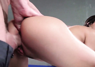 Chica Veronica Rodriguez gets keyed up then pounded by Johnny Sinss stocky a torch for plug-ugly