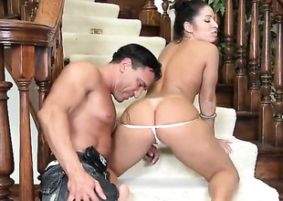 Piercings chicana Monica Santhiago on touching racy bosom and boring twat asks Marco Banderas relative to tend his thick tissue tend in avow itty-bitty to brashness after pest way bonking